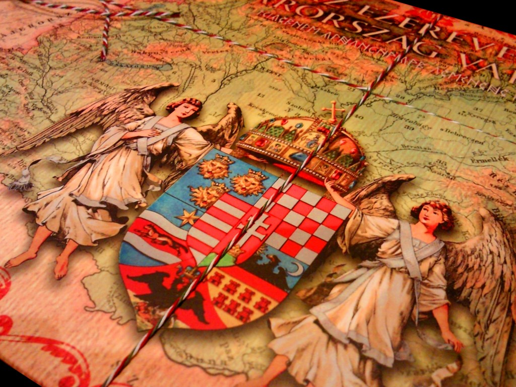Történelmi Magyarország címer angyalokkal